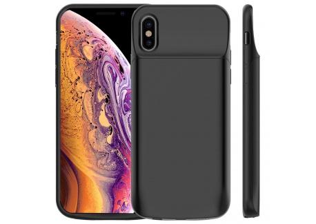 Coque Batterie iPhone XS/X, Vobon 6000mAh Chargeur Batterie Externe Magnétique Portable Rechargeable Coque Chargeur de Protec