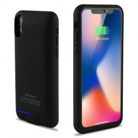 Coque Batterie Ultra Fin Étui Housse avec Batterie Externe Rechargeable 4000mAh Li-polymère, Portable Chargeur Batteri