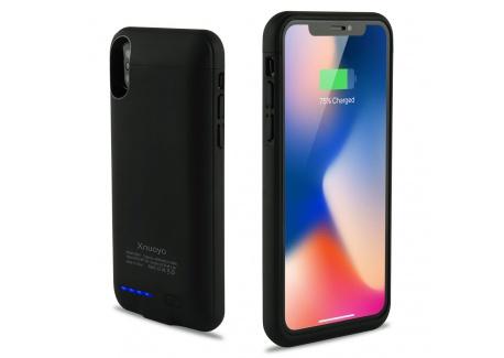Xnuoyo Coque Batterie Ultra Fin Étui Housse avec Batterie Externe Rechargeable 4000mAh Li-polymère, Portable Chargeur Batteri
