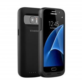 Coque Batterie Samsung Galaxy S7 5000mAh rechargeable avec 120%+ de batterie  Uniquement pour le S7  - Noir