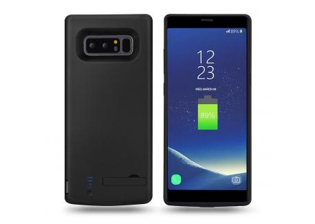 MPTECK @ Ultra Fin Noir Coque Batterie Externe 6500mAh 6.3 pouces Haute Capacité Power Case Etui Housse Batterie de secours R