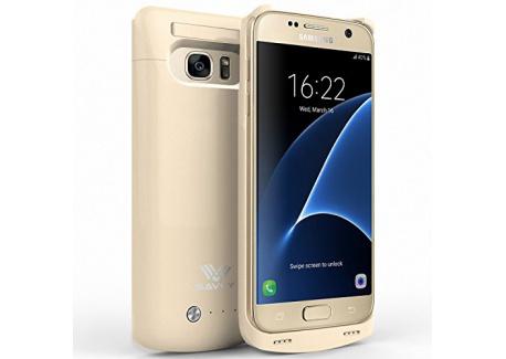 SAVFY® Ultra-Slim externe coque batterie chargeur pour Samsung Galaxy S7, Coque de protection avec batterie intégrée 4200mAh