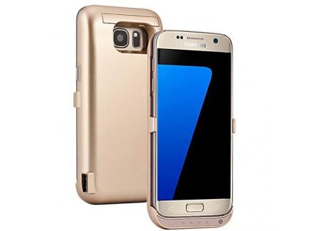 REDGO Coque de Batterie Externe pour Samsung Galaxy S7, 6500mAh dénergie Supplémentaire Ultra-Slim Coque de Protection Anti-