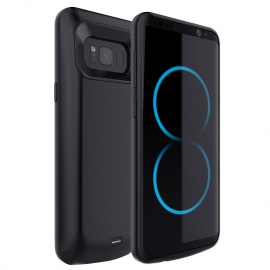 Coque Batterie Samsung Galaxy S8,Ultra fin Coque avec batterie rechargeable 5000mAh pour Samsung Galaxy S8,Portable externe c
