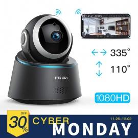 Caméra Sécurité Wifi 1080P FREDI IP, Caméra de Surveillance Sans Fil, Détecteur de Mouvement Infrarouge à Vision Nocturne, Pa