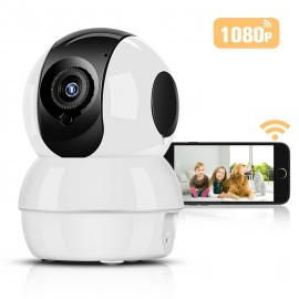 Caméra de Surveillance 1080P HD WiFi 2,4 GHz,Hommie   Caméra IP en Temps Réel avec Audio Bidirectionnel, Vision Nocturne et Dé