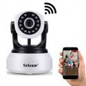 Caméra IP Surveillance WiFi Intérieur sans Fil 720P Caméra Bébé avec Vision Nocturne et Détection de Mouvement