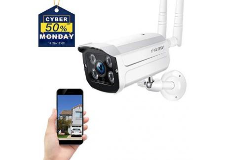 FREDI Caméra Sans Fil Extérieur Surveillance 1080P IP Caméra de Sécurité WiFi Vision Nocturne Détecteur Mouvement Système Dom
