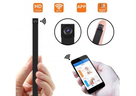 Caméra cachée par WiFi, Mini caméra de sécurité sans Fil 1080P Mini avec la détection de Mouvement, contrôle dapplication po