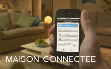 Objet connecté pour la maison. Controle de temperature, camera de surveillance, eclairage connectee
